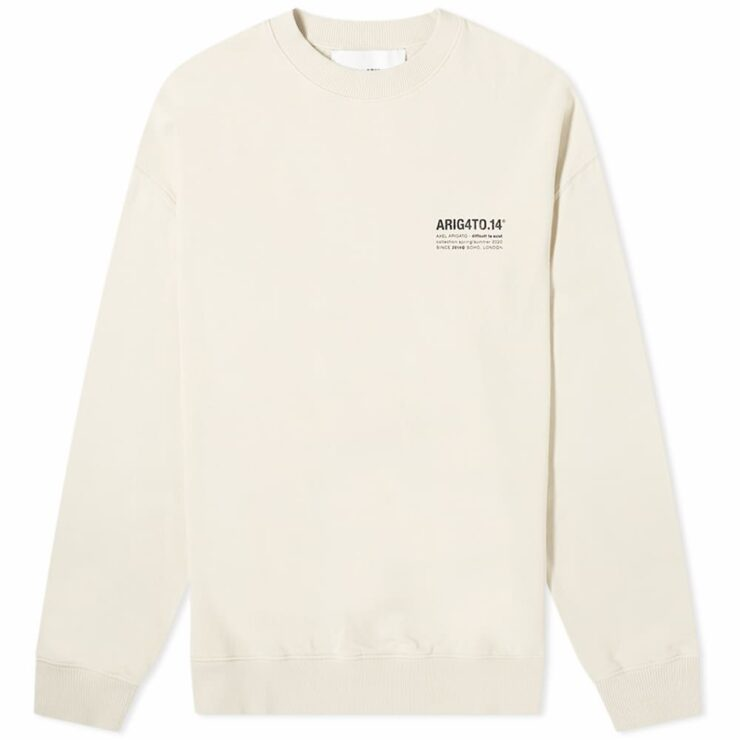 Axel Arigato DNA Crewneck Sweatshirt 'Light Beige'