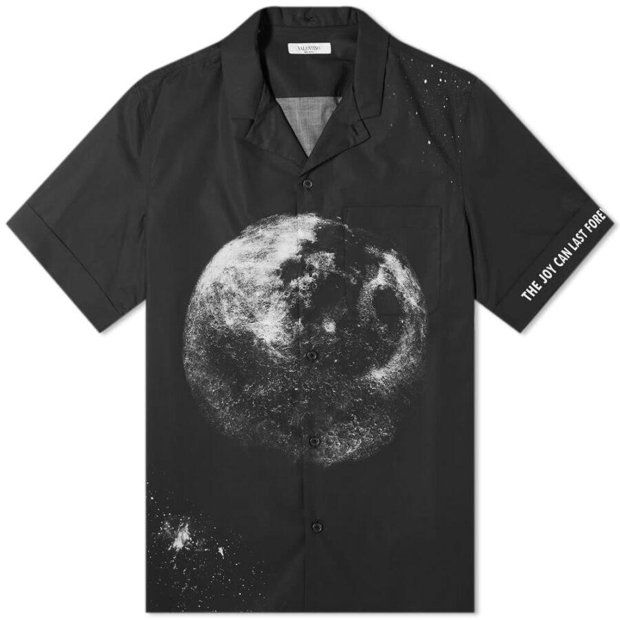 Valentino Moondust Print Vacation Shirt 'Black'