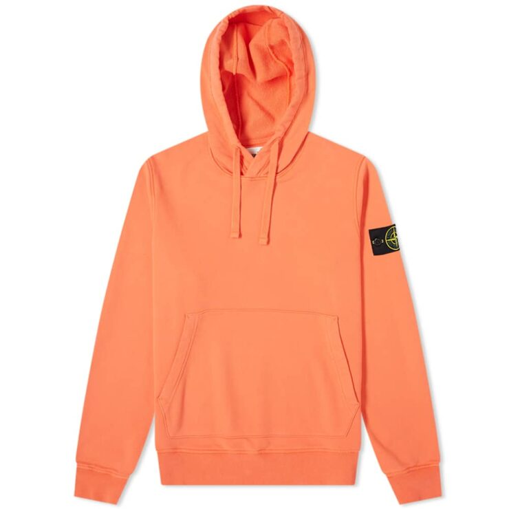 Stone Island Garment Dyed Hoodie 'Orange'
