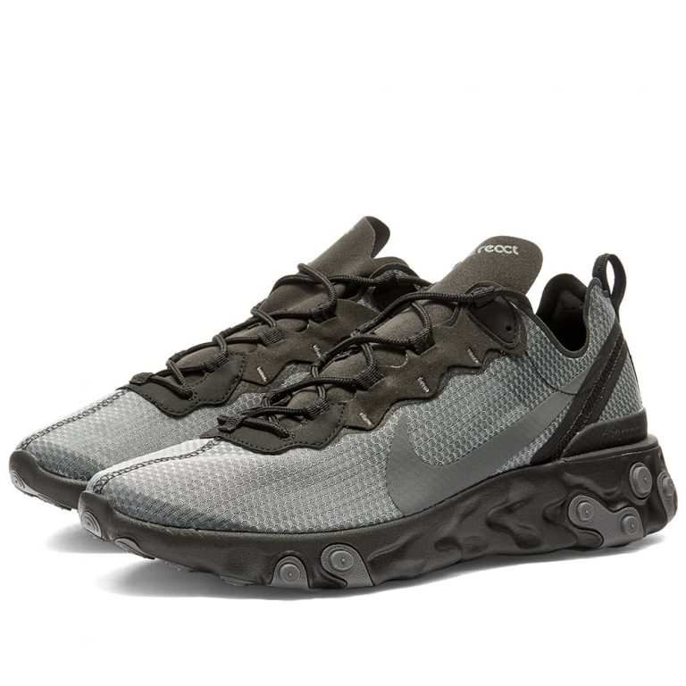 Nike React Element 55 SE 'Black, Anthracite & Grey'