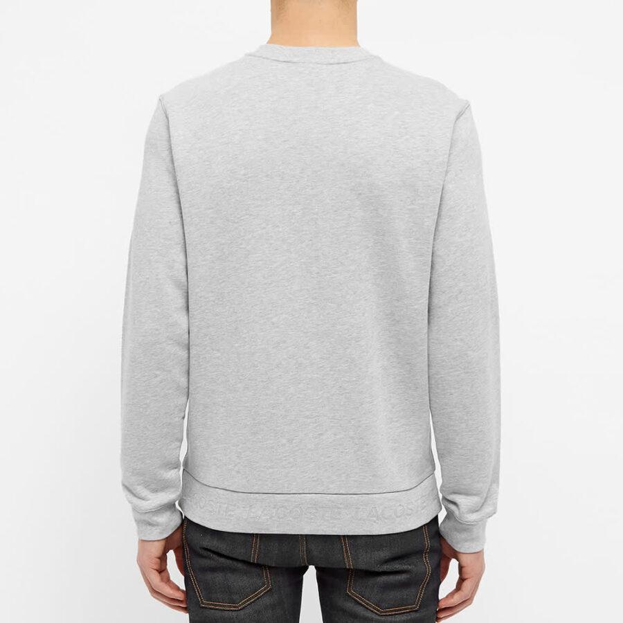 Lacoste Embossed Logo Hem Sweatshirt 'Grey'