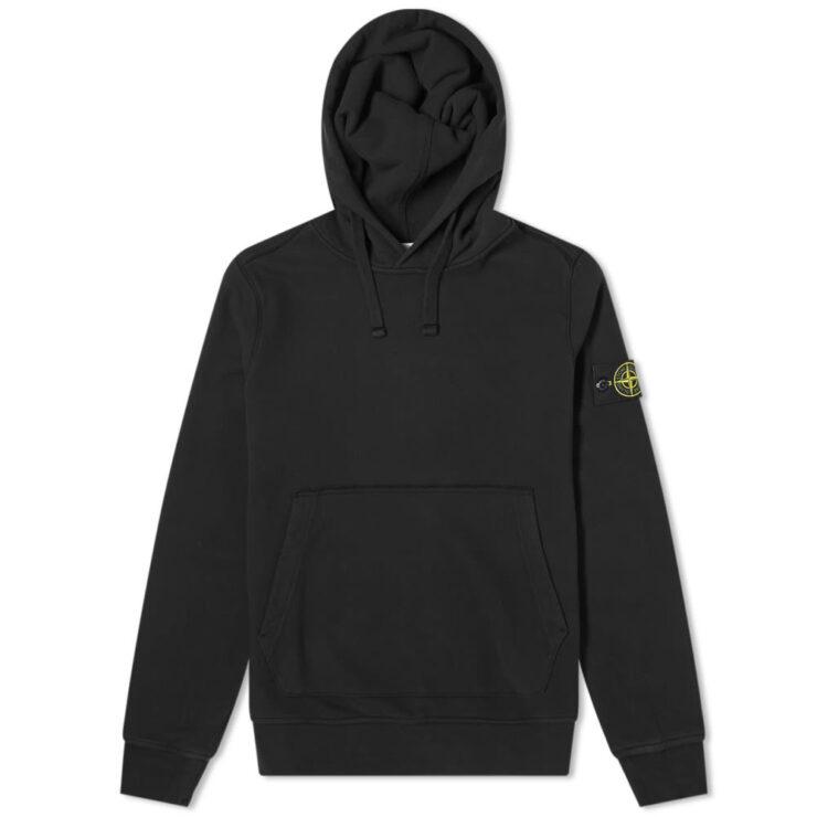 Stone Island Garment Dyed Hoody 'Black'