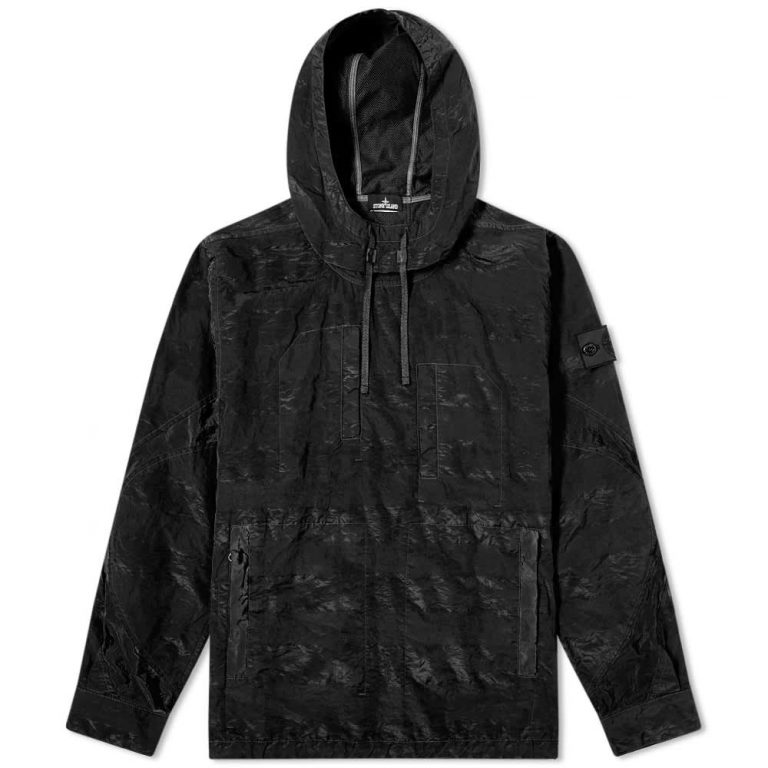 Stone Island Shadow Project Striped Nylon Metal Smock Jacket 'Black'
