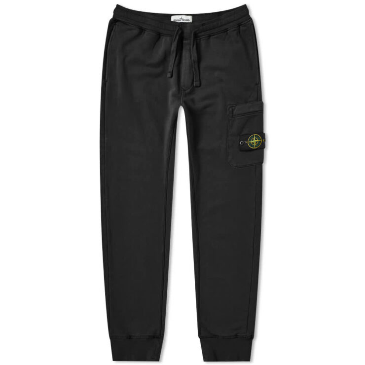 Stone Island Garment Dyed Sweatpants 'Black'