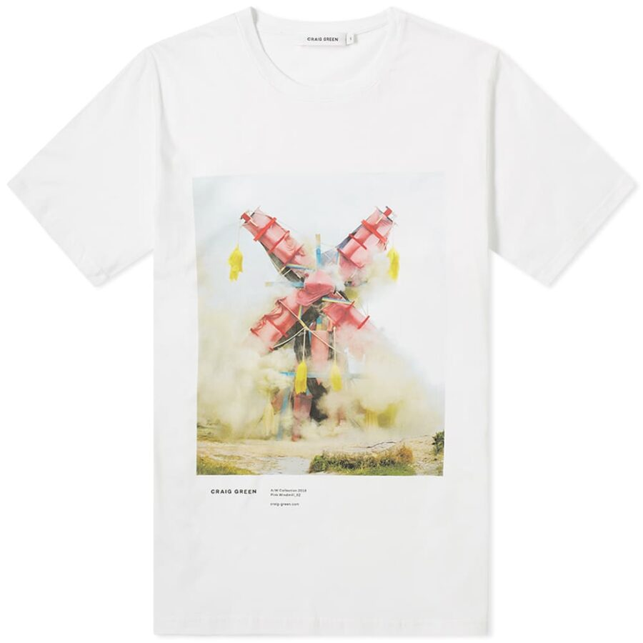 Craig Green Printed Campaign T-Shirt 'Pink Explosion'