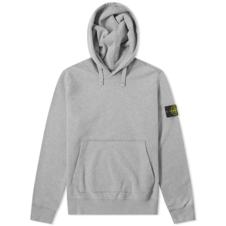 Stone Island Garment Dyed Hoodie 'Grey'
