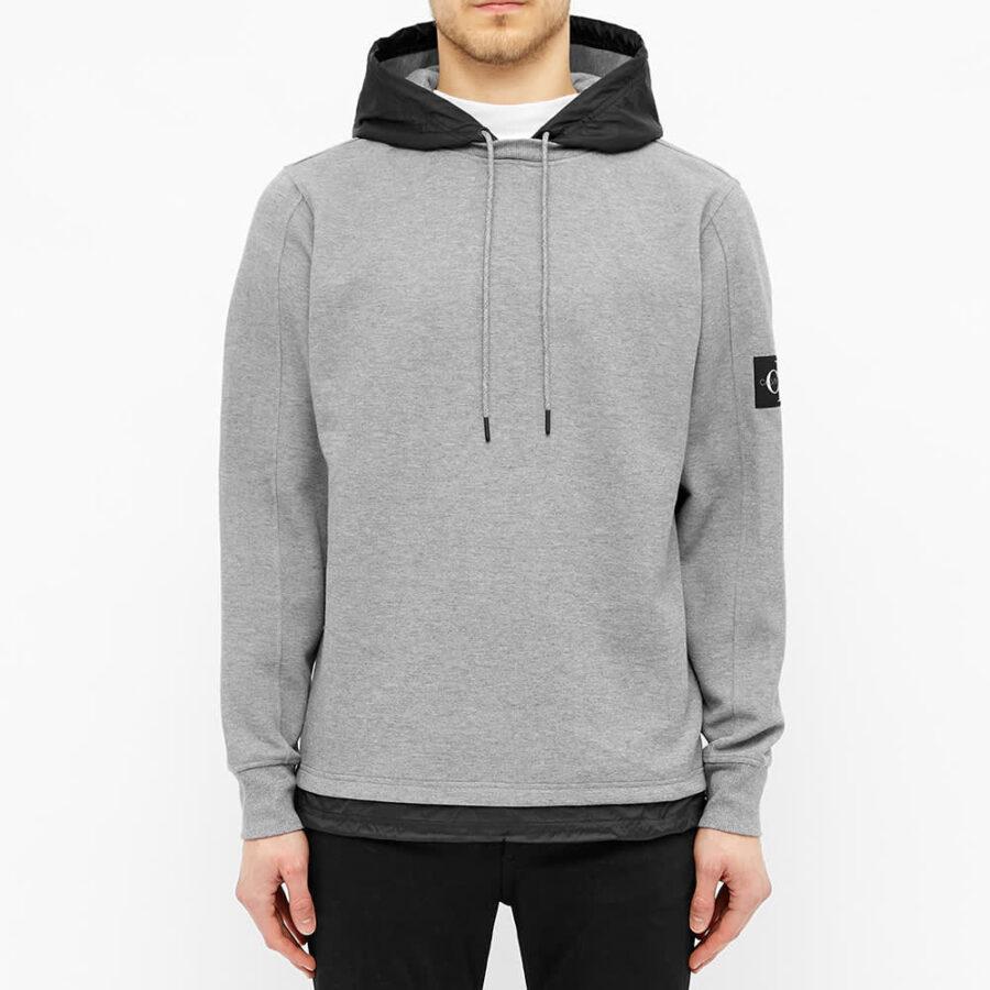 Calvin Klein Nylon Hooded Sweatshirt 'Grey & Black'