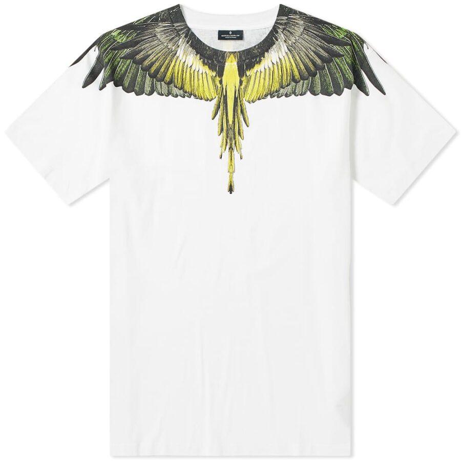 Marcelo Burlon Yellow Wings T-Shirt 'White'