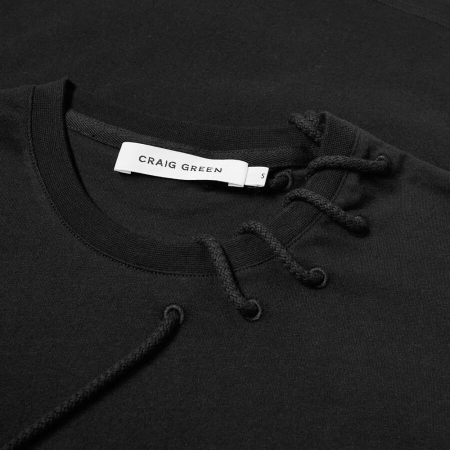 Craig Green Laced T-Shirt 'Black'