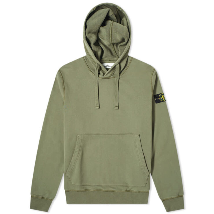 Stone Island Garment Dyed Hoodie 'Olive'