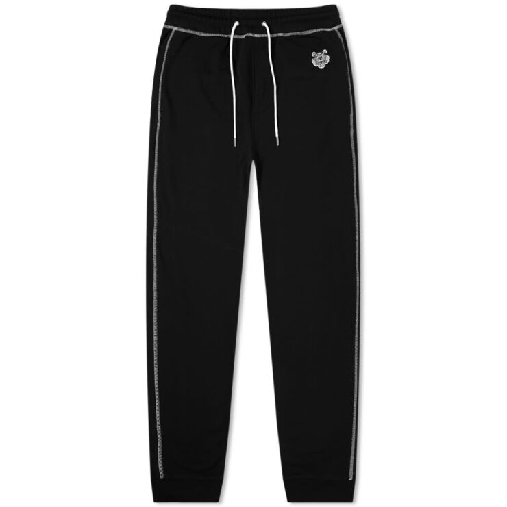Kenzo Tiger Logo Cuffed Sweatpants 'Black'