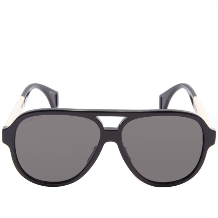 Gucci Sport Aviator Sunglasses 'Black'