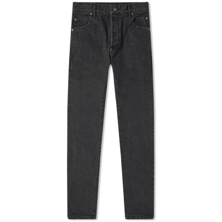 Balmain Monogram Embossed Slim Jeans 'Black'