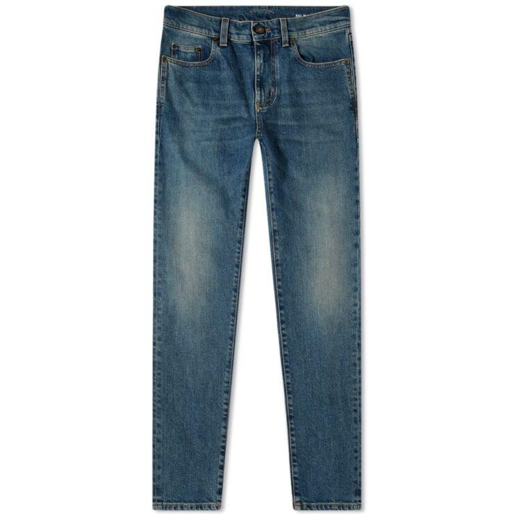 Saint Laurent Skinny Jeans 'Medium Blue'