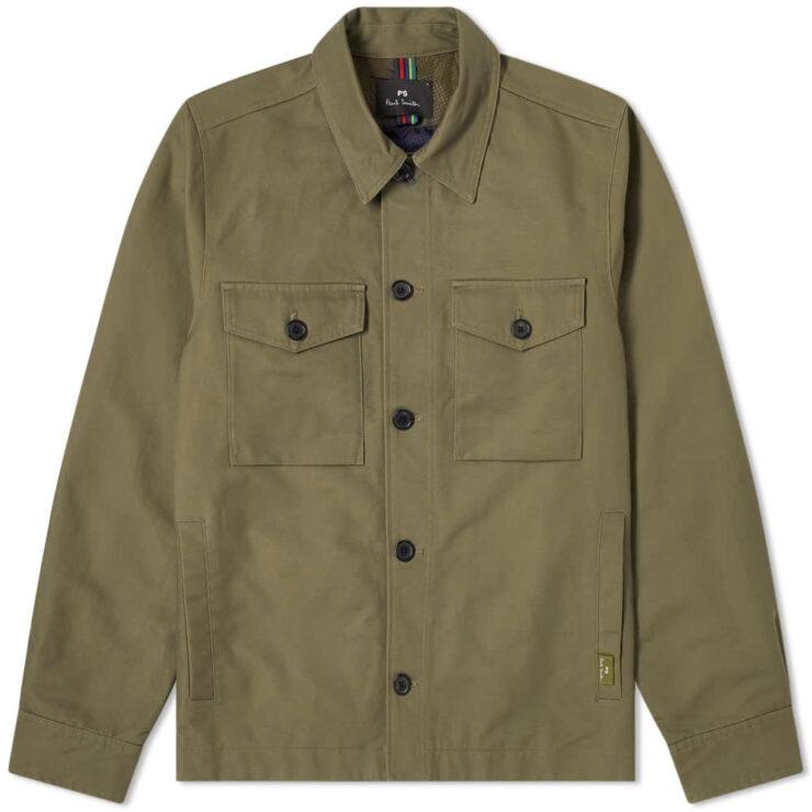 Paul Smith Military Chore Overshirt Jacket 'Khaki'