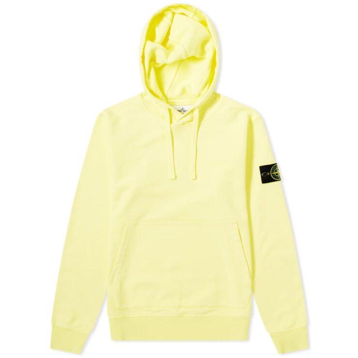 Stone Island Garment Dyed Hoody 'Lemon'