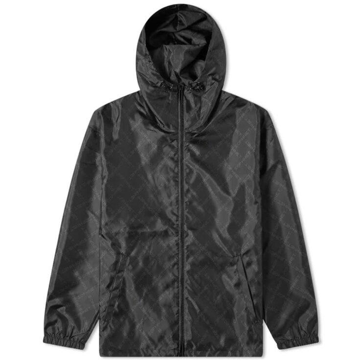 SOPHNET. Monogram Hooded Windbreaker 'Black'