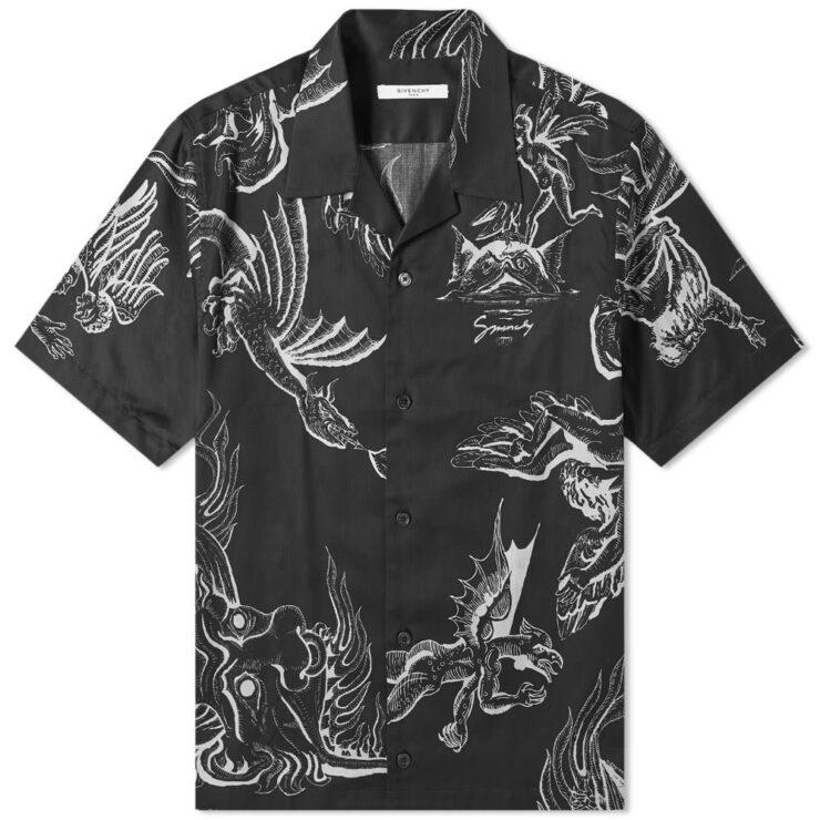 Givenchy Dragon Hawaiian Shirt 'Black'