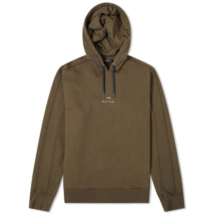 Paul Smith Damson Garment Dyed Hoody 'Khaki'