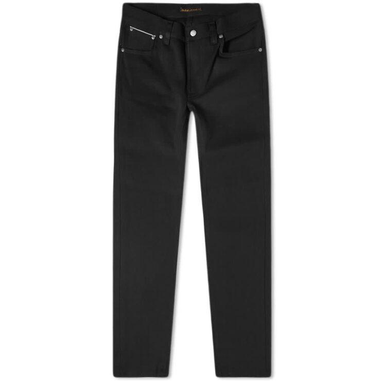 Nudie Lean Dean Jeans 'Dry Black Selvage'