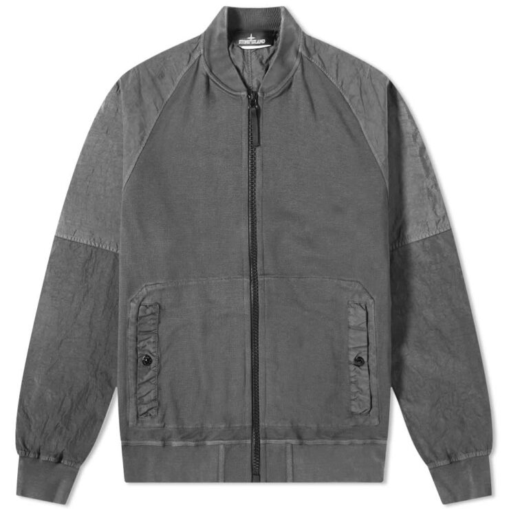 Stone Island Shadow Project Pique Fleece Bomber Jacket 'Grey'