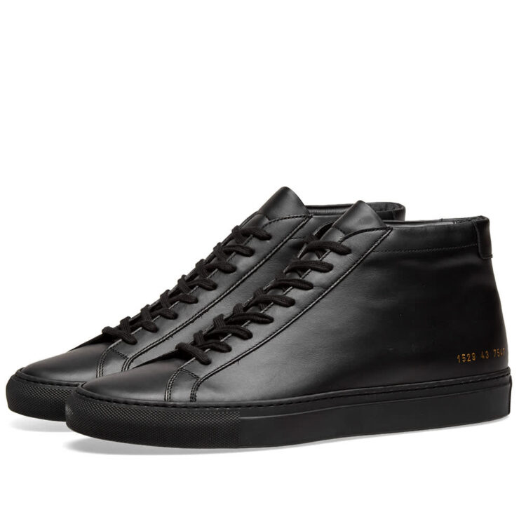 Common Projects Achilles Mid Sneakers 'Black'