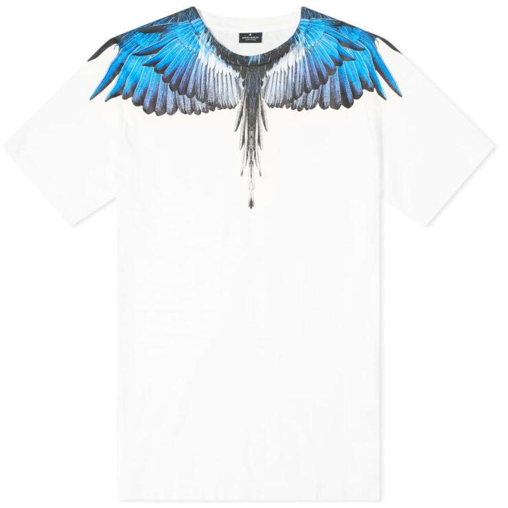 Marcelo Burlon Wings Shoulder T-Shirt 'White & Blue'