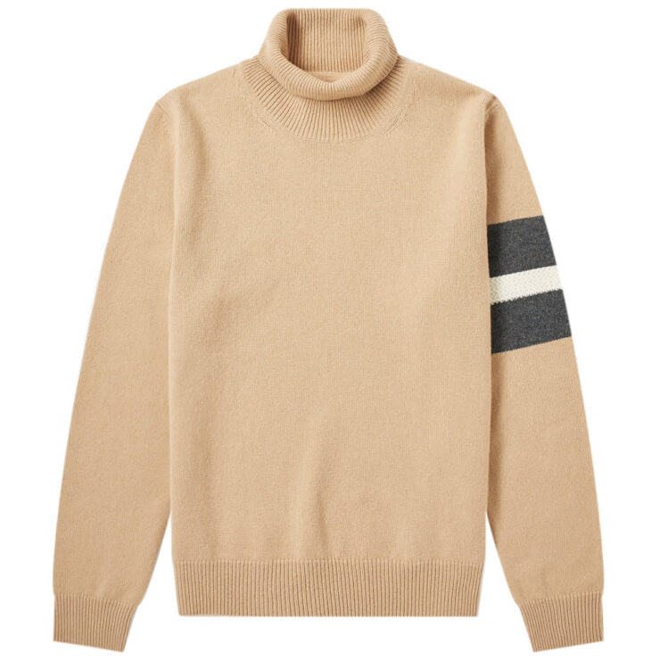 Maison Margiela 14 Arm Stripe Roll Neck Knitwear 'Camel'