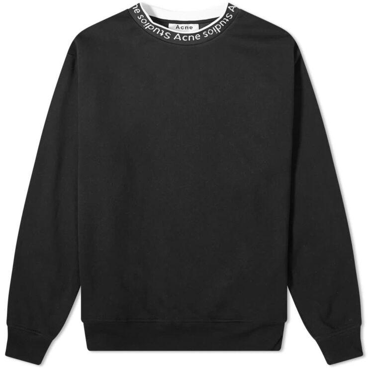 Acne Studios Fulton Logo Rib Sweatshirt 'Black'