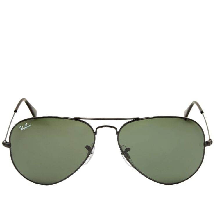 Ray-Ban Aviator Sunglasses 'Black & Green'