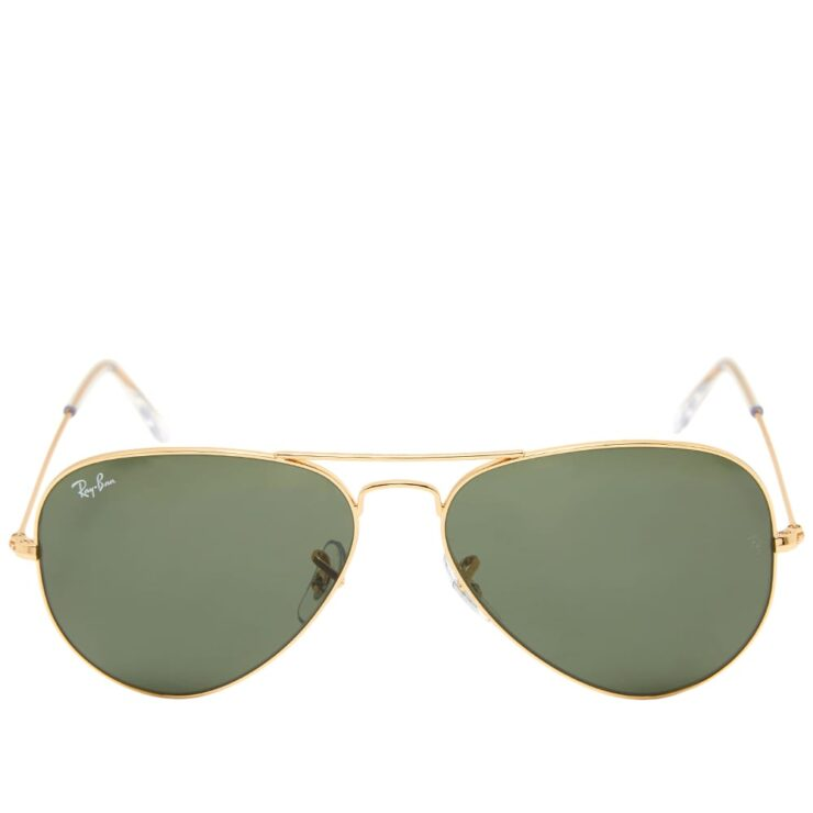Ray-Ban Aviator Sunglasses 'Gold & Green'