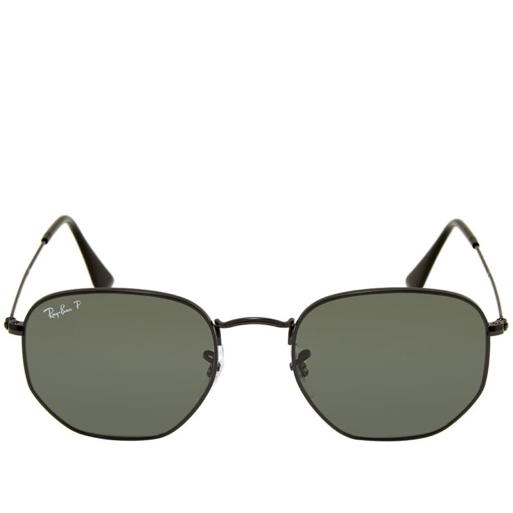 Ray-Ban Hexagonal Sunglasses 'Black & Green'