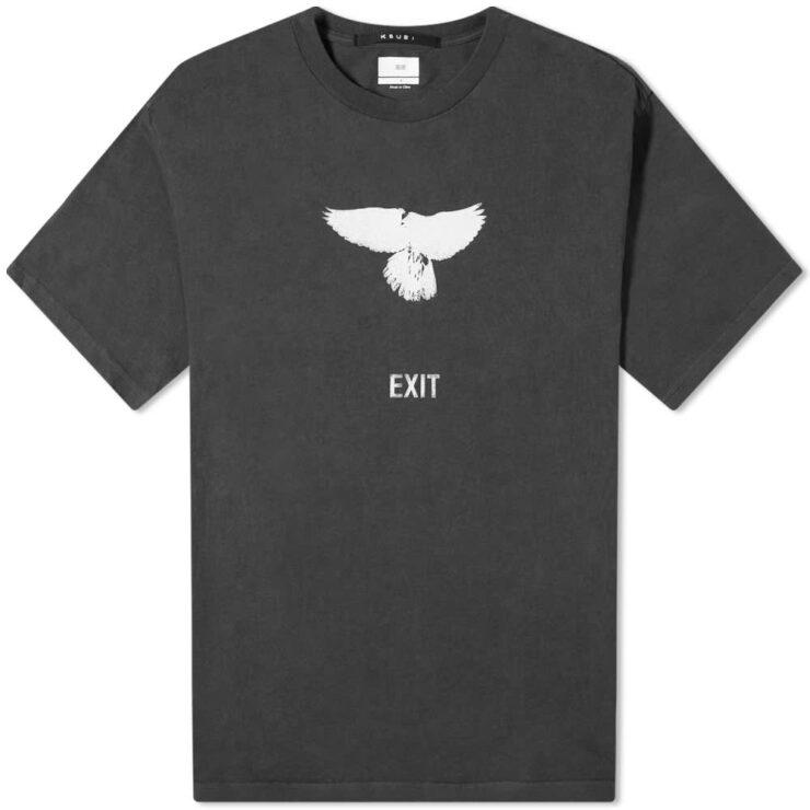Ksubi Exit T-Shirt 'Back to Black'