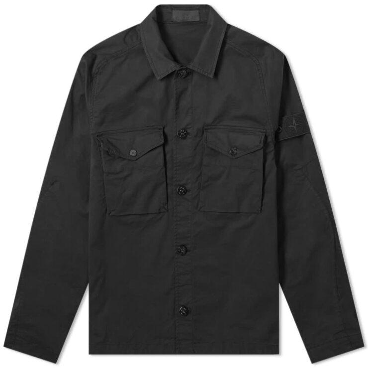Stone Island Ghost Piece Overshirt 'Black'