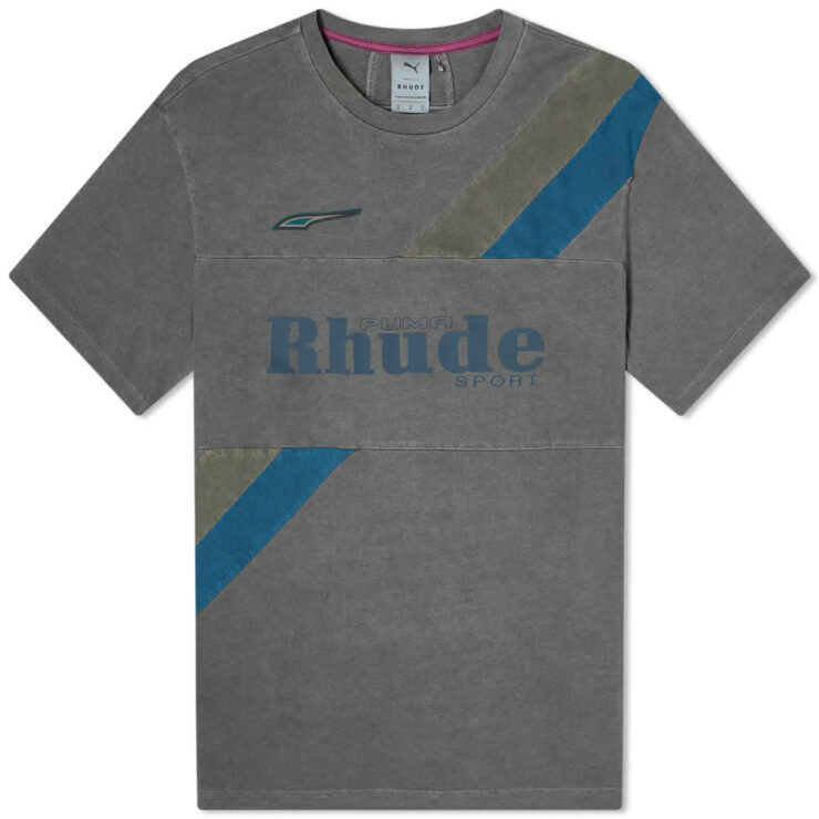 Puma x Rhude Garment Dyed T-Shirt 'Grey'