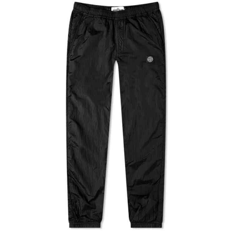 Stone Island Garment Dyed Nylon Metal Ripstop Sweatpants 'Black'