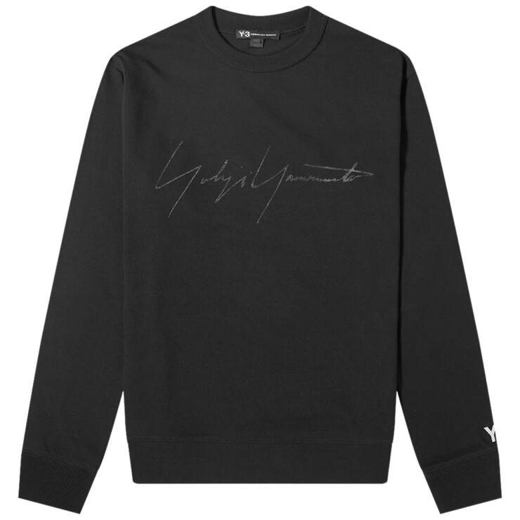 Y-3 Distressed Signature Crewneck 'Black'