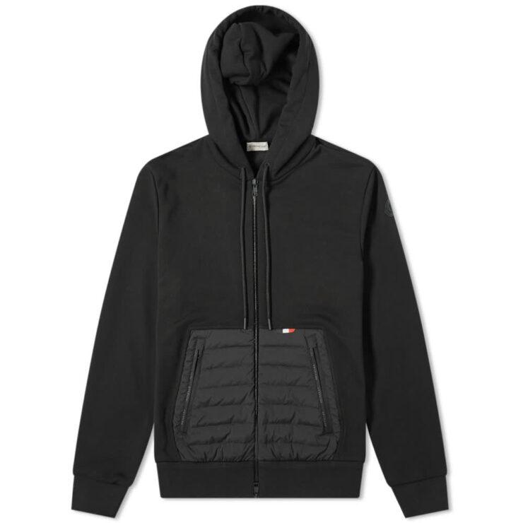 Moncler Kangaroo Pocket Zip Hoody 'Black'
