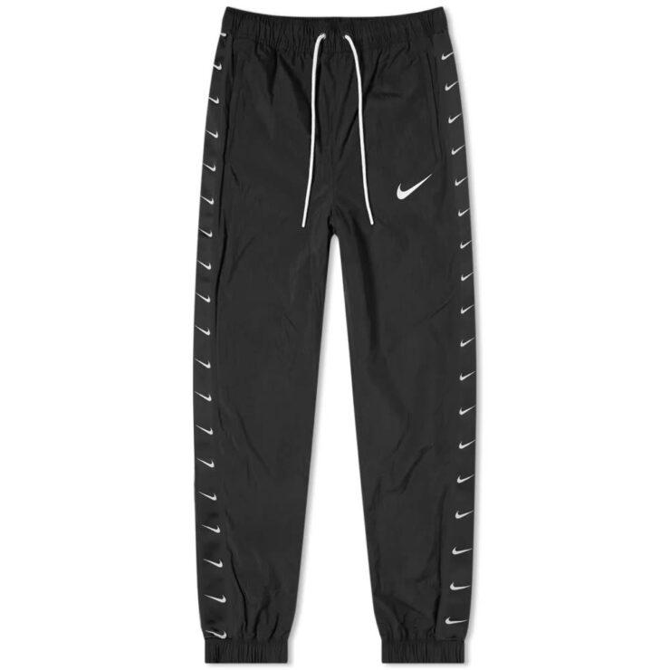 Nike Taped Swoosh Trackpants 'Black'