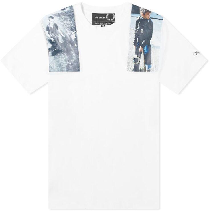 Fred Perry x Raf Simons Photo Print T-Shirt 'White'