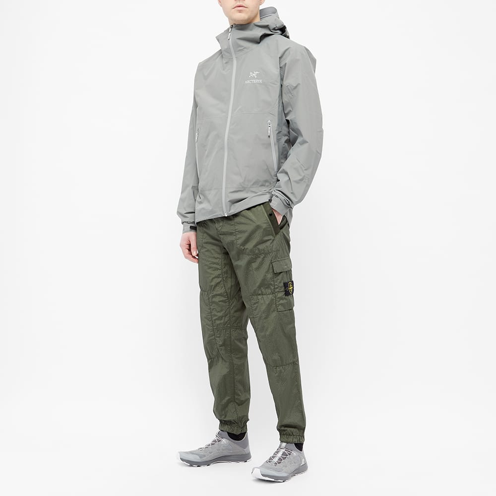 Stone Island Nylon Seersucker Cargo Pants Olive Mrsorted
