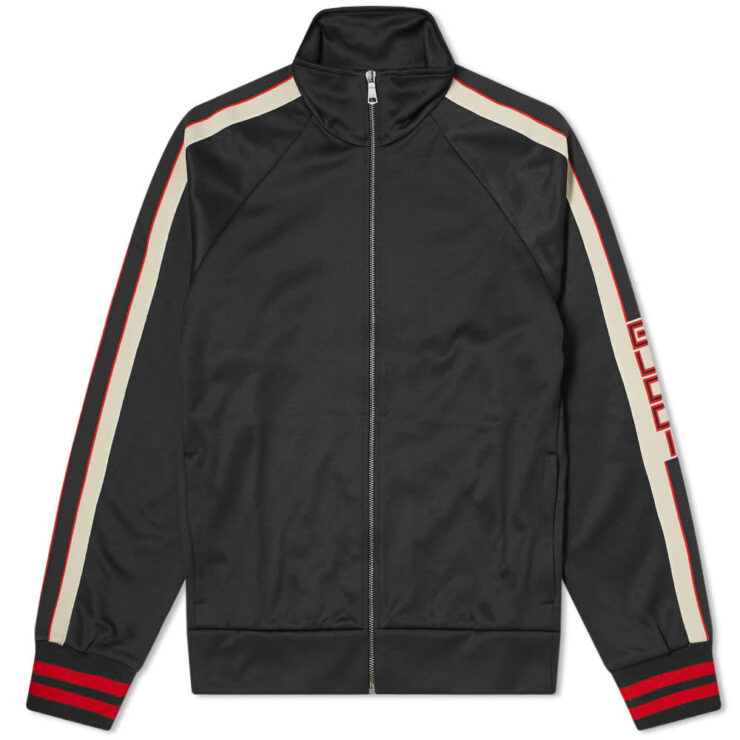 Gucci Taped Logo Track Jacket 'Black'