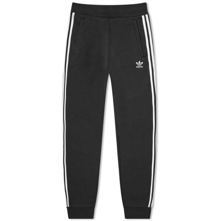 Adidas Originals 3 Stripe Trackpants 'Black'