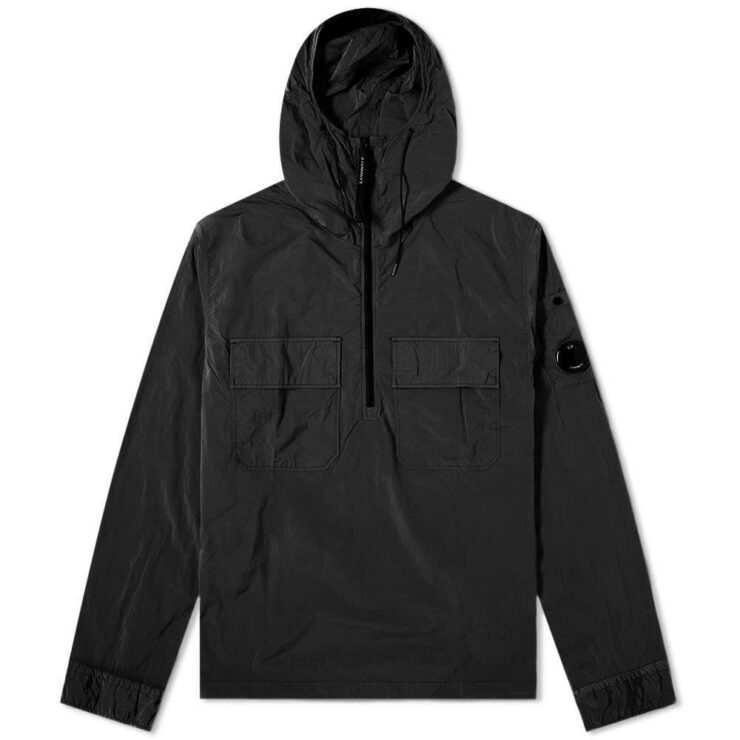 C.P. Company Nylon Arm Lens Hooded Overshirt 'Black'