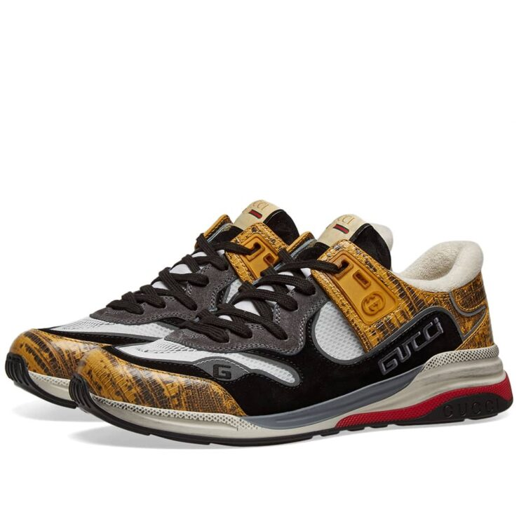 Gucci G-Line Ultrapace Runner Sneakers 'Black & Yellow'