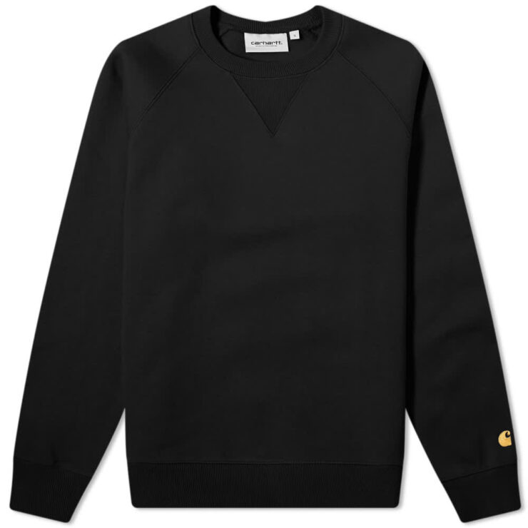 Carhartt WIP Chase Sweatshirt 'Black & Gold'
