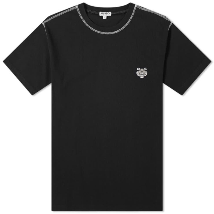Kenzo Small Tiger Logo T-Shirt 'Black'