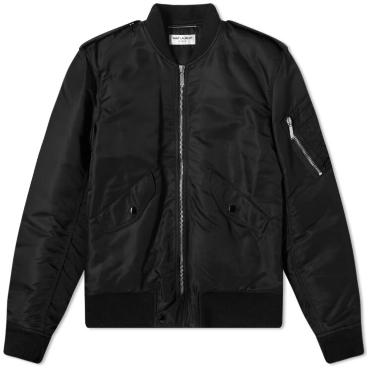 Saint Laurent Classic MA-1 Bomber Jacket 'Black'