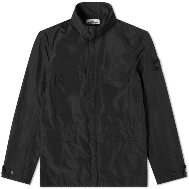 Stone Island Micro Reps 4 Pockets Coach Jacket 'Black'