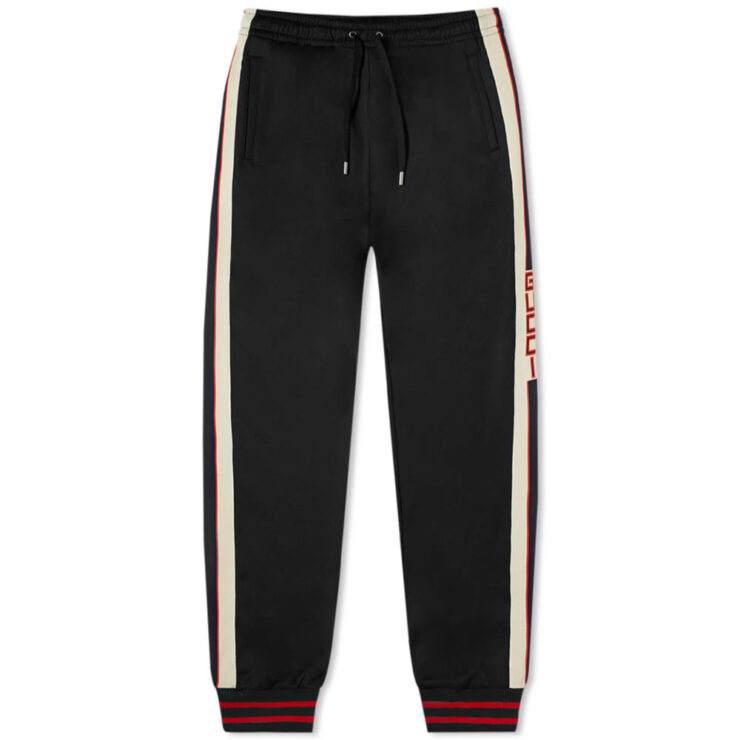Gucci Taped Logo Trackpants 'Black'